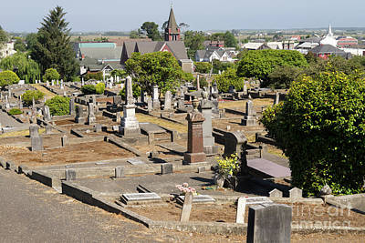 Photograph - Ferndale Cemetery Humboldt County California Dsc5432 by Wingsdomain Art and Photography