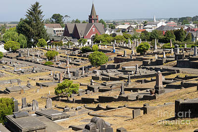 Photograph - Ferndale Cemetary Humboldt County California Dsc5447 by Wingsdomain Art and Photography