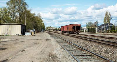 Photograph - Ferndale Train Yard by Tom Cochran