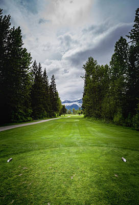 Print featuring the photograph Fernie Tee Box by Darcy Michaelchuk
