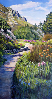 Painting - Fernkloof Path by Christopher Reid