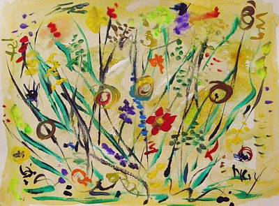 Painting - Ferns And Flowers by Mary Carol Williams