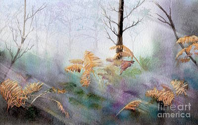 A Hot Summer Day Painting - Ferns In The Forest by Kim Hamilton