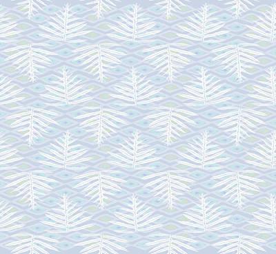 Digital Art - Ferns On Diamonds Lilac Gray by Karen Dyson