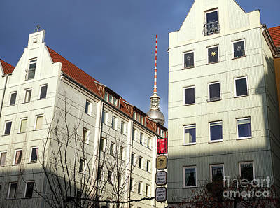 Photograph - Fernsehturm In The Distance by John Rizzuto