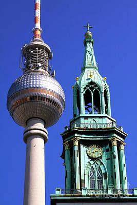 Photograph - Fernsehturm by John Rizzuto