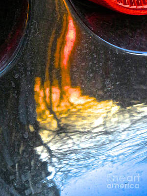 Amorphous Metal Photograph - Ferrari 10 Abstract by Ken Lerner