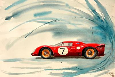 Ferrari 133 P Print by MICHAUX Michel