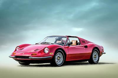 Digital Art - Ferrari 246 Gts Dino by Douglas Pittman