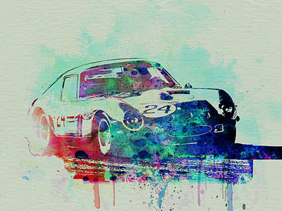 Old Cars Painting - Ferrari 250 Gtb Racing by Naxart Studio