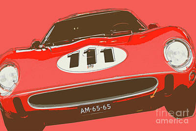 Digital Art - Ferrari 250 Gto/64 by Roger Lighterness