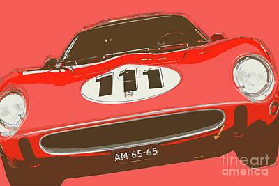 Digital Art - Ferrari 250 Gto/64 by Roger Lighterness