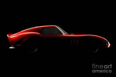Ferrari 250 Gto Digital Art - Ferrari 250 Gto - Side View by David Marchal