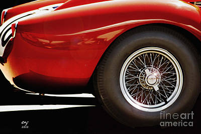 Photograph - Ferrari 250 Tr Fender And  Wheel by Curt Johnson