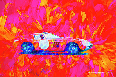 Digital Art - Ferrari 250gto by Roger Lighterness