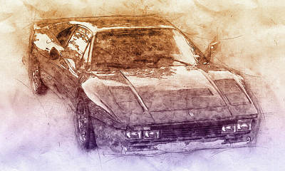 Mixed Media Royalty Free Images - Ferrari 288 GTO 2 - Sports Car - 1984 - Automotive Art - Car Posters Royalty-Free Image by Studio Grafiikka