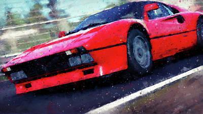 Painting - Ferrari 288 Gto - 33  by Andrea Mazzocchetti