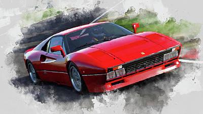 Painting - Ferrari 288 Gto - 35 by Andrea Mazzocchetti