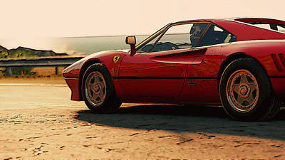 Painting - Ferrari 288 Gto At Sunset - 4 by Andrea Mazzocchetti