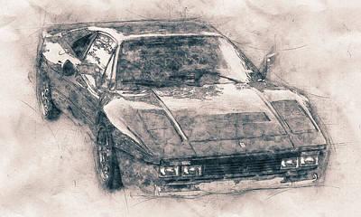 Mixed Media Royalty Free Images - Ferrari 288 GTO - Sports Car - 1984 - Automotive Art - Car Posters Royalty-Free Image by Studio Grafiikka