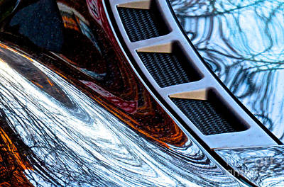Amorphous Metal Photograph - Ferrari 3 Abstract by Ken Lerner