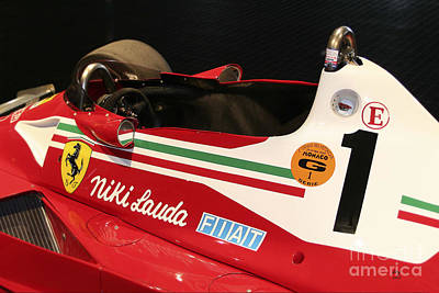 Photograph - Ferrari 312 F-1 Cockpit by Curt Johnson