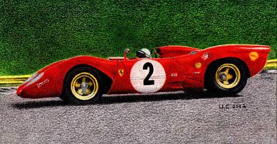 Ferrari 312p Pedro Rodriguez 1969 Art Print by Ugo Capeto
