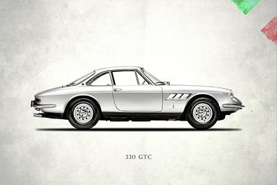 Ferrari 330 Gtc Art Print by Mark Rogan
