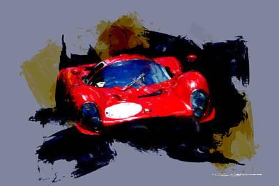Digital Art - Ferrari 330 P3 by Roger Lighterness