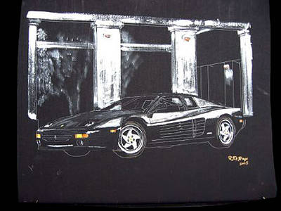 Painting - Ferrari 348 Gtr Testarrossa by Richard Le Page