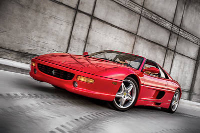 Digital Art - Ferrari 355 by Douglas Pittman