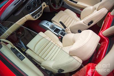 Photograph - Ferrari 360 Spyder Interior by Colin Rayner