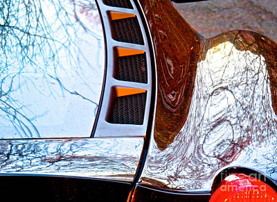 Amorphous Metal Photograph - Ferrari 4 Abstract by Ken Lerner