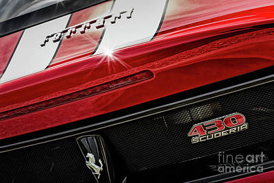 Art Print featuring the photograph Ferrari 430 Scuderia by Brad Allen Fine Art
