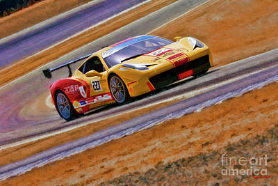 Photograph - Ferrari 458 Challenge Lisa Clark  by Blake Richards