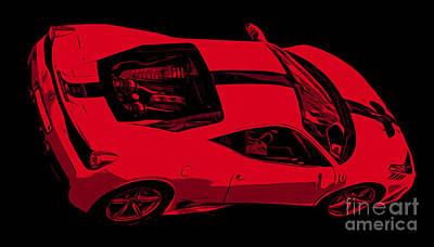 Auto Racing Photograph - Ferrari 458 by Edward Fielding