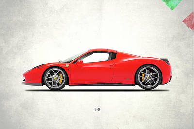 Classic Car Photograph - Ferrari 458 Italia by Mark Rogan