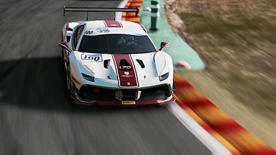 Photograph - Ferrari 488 Challenge - 42 by Andrea Mazzocchetti
