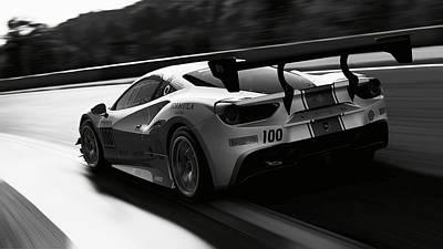 Photograph - Ferrari 488 Challenge - 48 by Andrea Mazzocchetti