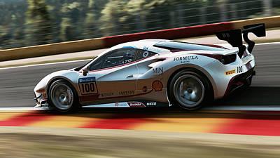 Photograph - Ferrari 488 Challenge - 50 by Andrea Mazzocchetti