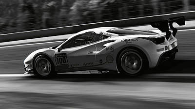 Photograph - Ferrari 488 Challenge - 51 by Andrea Mazzocchetti