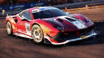 Painting - Ferrari 488 Challenge - 56 by Andrea Mazzocchetti