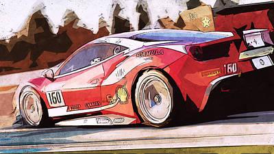 Painting - Ferrari 488 Challenge - 58 by Andrea Mazzocchetti