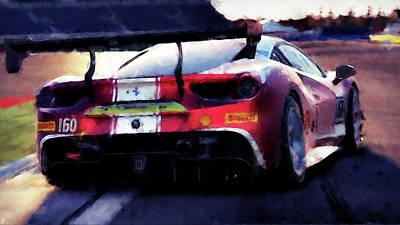 Painting - Ferrari 488 Challenge - 60 by Andrea Mazzocchetti