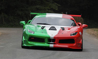 Photograph - Ferrari 488 Challenge  by Roger Lighterness