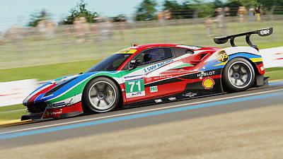 Photograph - Ferrari 488 Gte - 04 by Andrea Mazzocchetti