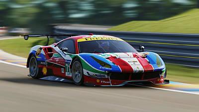 Photograph - Ferrari 488 Gte - 07 by Andrea Mazzocchetti
