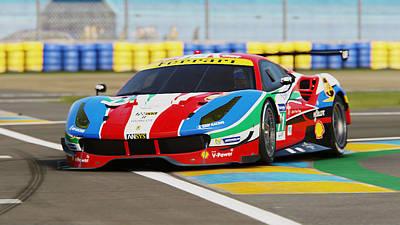 Photograph - Ferrari 488 Gte - 13 by Andrea Mazzocchetti