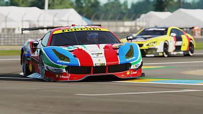 Photograph - Ferrari 488 Gte - 14 by Andrea Mazzocchetti