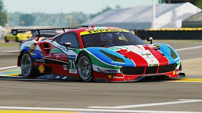 Photograph - Ferrari 488 Gte - 15 by Andrea Mazzocchetti